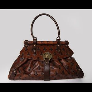 Fendi Brown Leather Magic Shoulder Bag